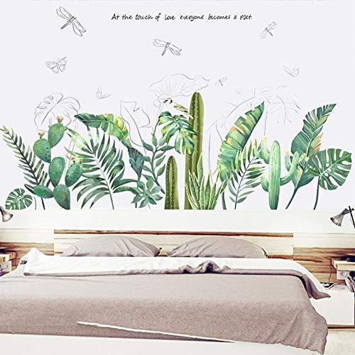 funnyfeng Lámina decorativa para pared con diseño de palmera, para salón, oficina, baño, cocina, dormitorio, decoración del hogar