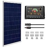 SUNGOLDPOWER 100 Watt 12V Polycrystalline Solar Panel Solar Module:1pcs 100W Polycrystalline Solar Panel Solar Cell Grade A +20A LCD PWM Charge Controller Solar