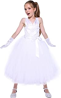 Girls 2-12Y Marilyn Monroe Dress with Gloves 80's Stars Dress Up Costume