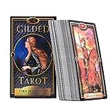 Tarot Karten,Das Vergoldete Tarot-Karten Anfänger Tarot Leite Den Weg Reinige Den Geist Tarot Kartendeck Erzählen Set Mit Karten Für Hausparty(Englische Version)