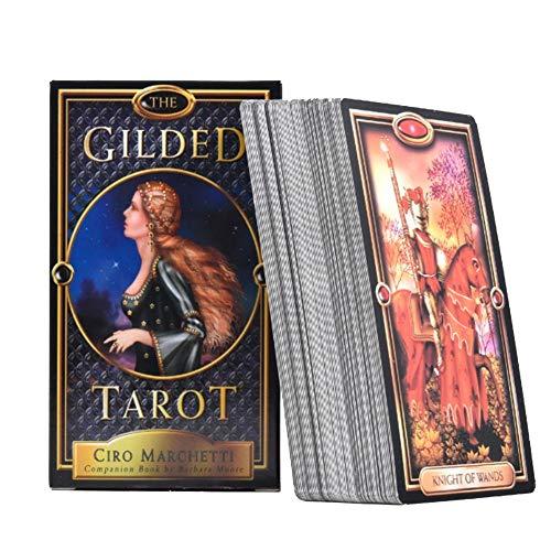 Het vergulde Tarot 78 kaarten Tarot kaartspellen | overwindt deze beperking, door enkele van de meest opvallende kunstwerken op elk dekbed met elk Tarot-systeem of boek te gebruiken