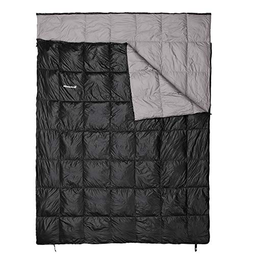 Mssohkan Double Sleeping Bag,Big Size 87inX65in(3.7lbs),Waterproof 2 Person Down Sleeping Bag Camping, Backpacking, or Hiking Outdoor