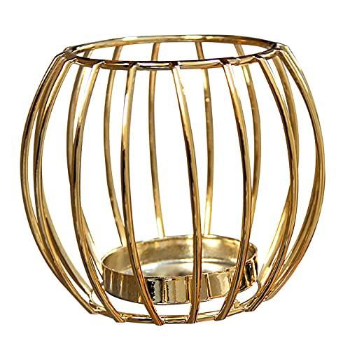 Sostenedor de vela de metal dorado 9.5* 8 cm titular de la vela de metal dorado decoración de Navidad titular de vela de lujo adornos