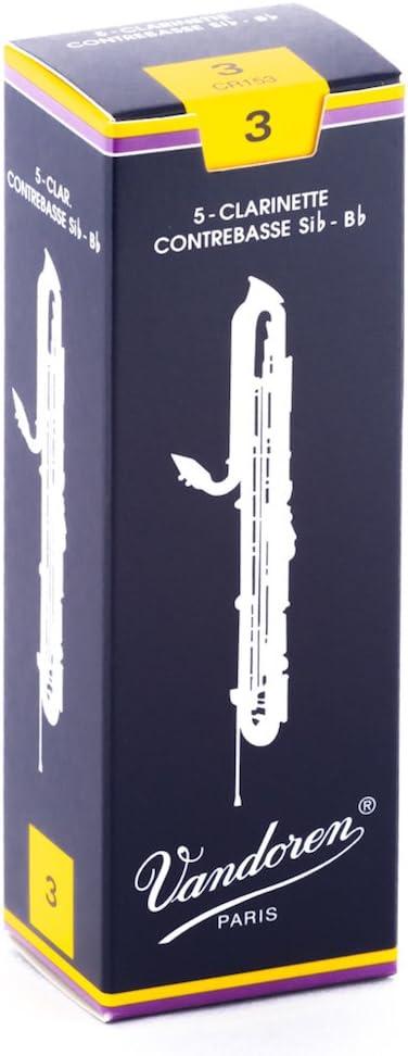Vandoren CR153 Brand new Contrabass Clarinet Strength Same day shipping Reeds 3; Traditional