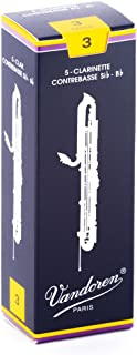 Vandoren CR153 Contrabass Clarinet Traditional Reeds Strength 3; Box of 5