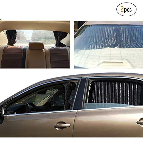 ZATOOTO Sonnenschutz Heckscheibe Auto - Sonnenschutz Auto Magnetisch zum Seitenfenster und Heckscheiben, UV-Strahlen Vermeiden und Fenster Abdunkeln, Universal, Schwarz (2 STK)