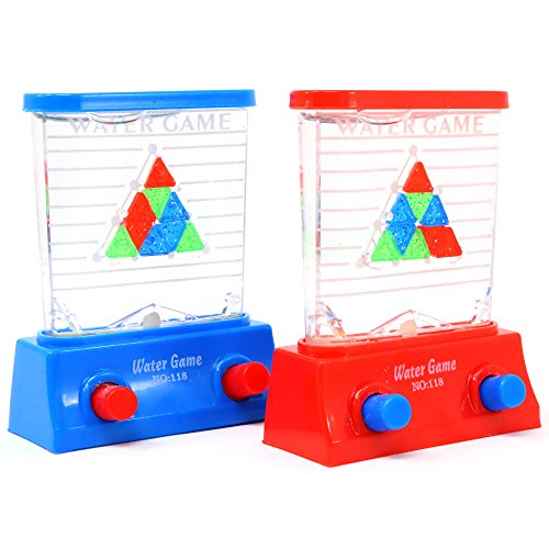 Water Handheld Games - Aqua Mini Pinball Arcade Toy, Party Favors, Travel Toys, Teacher's and Therapist's Reward and / or Prize, 1 Piece (Assorted Colors)