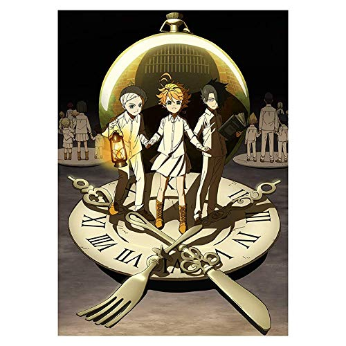 Car-tobby Anime The Promised Neverland Regalo de Cumpleaños Pared Decoración Hogar Rollo Póster (H08)