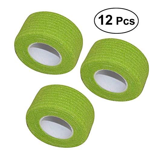 ROSENICE Verband 12 Rolle Cohesive Bandagen selbstklebende Band Stretch sportlich starke elastische Band(Grün)