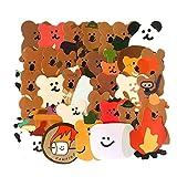 BLOUR 34 unids/Set Lindo Animal Koala forraje Pegatinas Paquete Libros de Mano Diario de Dibujos Animados Creativo DIY Herramientas de Pasta translúcida papelería