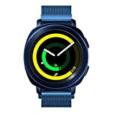 Maxjoy Sport Band Compatible with Galaxy Gear S2/42mm Watch Bands, 20mm Adjustable Premium Stainless Steel Metal Strap with Strong Magnet Replacement for Gear Sport/Gear S2 Classic Smart Watch