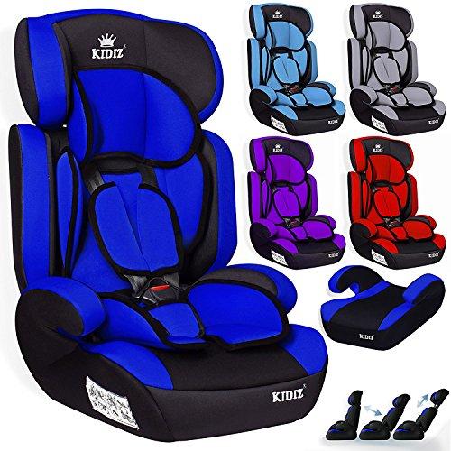 Kidiz® Autokindersitz Autositz Kinderautositz 9-36 kg Gruppe 1+2+3 Kindersitz (Blau)