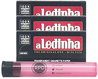 Aledinha Mini Transparent Rolling Papers (3 Packs) with Rolling Paper Depot Doob Tube