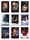 POSTER STOP ONLINE Star Wars Episode I, II, III, IV, V, VI, VII, VIII & Rogue One - Movie Poster Set (9 Individual Full Size Movie Posters) (Size 27' x 40' Each)
