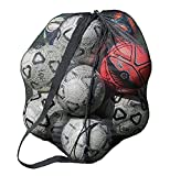 YJZQ Bolsa de viaje de malla impermeable extra grande, bolsa de deporte de alta resistencia, bolso de hombro, bolso de baloncesto, voleibol, fútbol, bolsa de almacenamiento con para 10 - 15 bolas