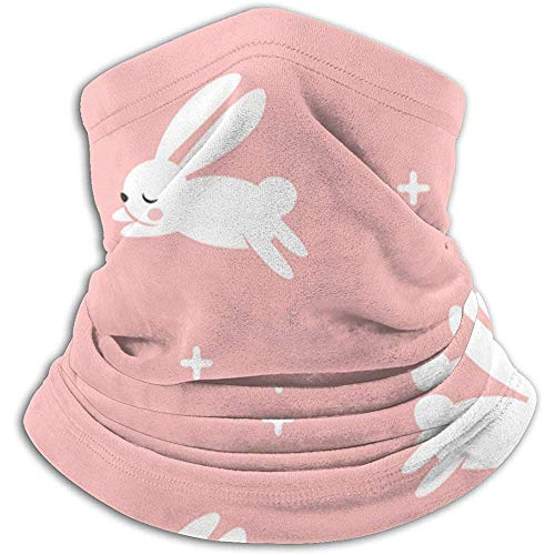 Conejitos Flecha pequeña Rosa moderna Conejo de Pascua Cuello Calentador Diadema Mascarilla Bandana Head Wrap Bufanda Headwear Ski Running