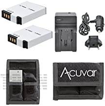 2 EN-EL12 Rechargeable Batteries + Car / Home Charger + Acuvar Battery Pouch for Nikon Coolpix AW100, AW110, P300, P310, P330, S31, S1000pj, S1100pj, S1200pj, S610 and Other Models