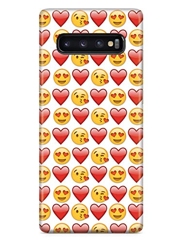 Inspired Cases - 3D Textured Galaxy S10 Case - Rubber Bumper Cover - Protective Phone Case for Samsung Galaxy S10 - Emoji Love