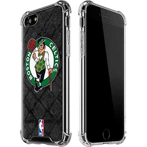 Skinit Clear Phone Case Compatible with iPhone 8 - Officially Licensed NBA Boston Celtics Dark Rust Design