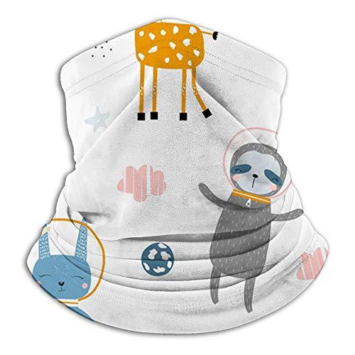 Animales infantiles Astronautas Space Animal The Arts Bandana Face Scarf Neck Gaiter, Scarf Diademas Pasamontañas Headwear Tube Windproof Seamless Face Cover para mujeres Hombres