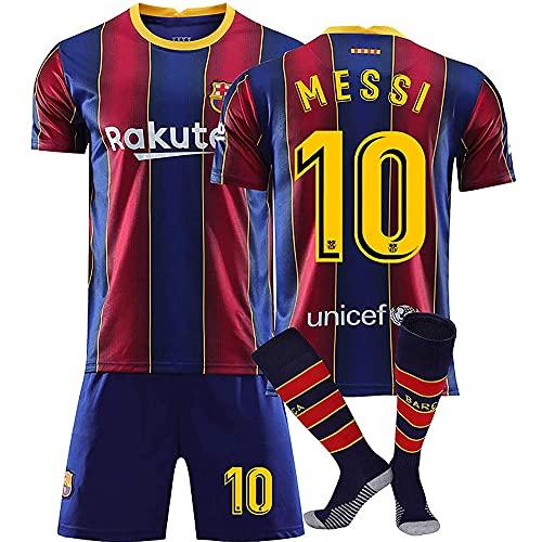 liliiy Camisetas de Entrenamiento de fútbol 2nd EQ Season 20/21 Camiseta de Barcelona Camiseta de Local Shorts y Calcetines para niños/jóvenes,Blue-XL