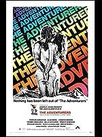 冒険者(1970)映画ポスターキャンバス印刷絵画壁アートリビングルームの寝室の装飾-50x75cmフレームなし