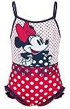 Disney Bañador Infantil Minnie niñas con Adornos de Volantes en la Parte Inferior (4 años, Rojo)