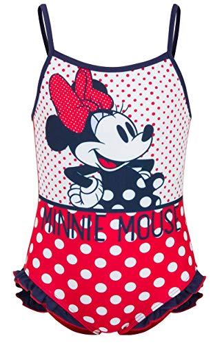 Disney Bañador Infantil Minnie niñas con Adornos de Volantes en la Parte...