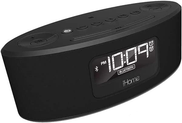IHome IBT31GC 蓝牙立体声调频时钟收音机和扬声器带 USB 充电