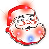 Light Up Classic Santa Claus Flashing Blinking LED Body Light Lapel Pins (25-Pack)