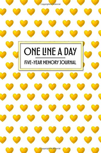 One Line a Day - Five Year Memory Journal: Beautiful Pocket Sized 5-Year Golden Heart Mindful Journal of Personal Memories - Great for New Parents, ... Growth (4x6 Pocket One Line a Day Journal)