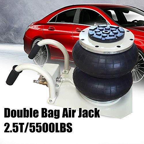 DiLiBee 2,5 TON perslucht Jack Air Jack met dubbel stopcontact Air Bag 5,3-1 inch