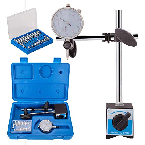 Dial Indicator with Magnetic Base Metric 0-10mm Tester Gage Gauge Holder 0.01mm Professional Precision