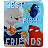 Finding Dory 'True Blue Friends' Character Lightweight Fleece Throw Blanket