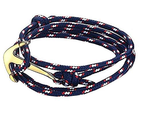 LUIDILUC Pulsera con ancla y símbolo unisex con cuerda azul