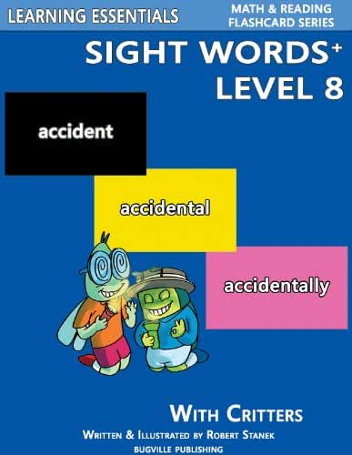 Sight Words Plus Level 8: Sight Words Flash Cards with Critters for Grade 3 & Up (Learning Essentials Math & Reading Flashcard Series) (Bugville Critters Book 71) (English Edition)