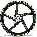 Set Tiras Adhesivo Verde Compatible para Ruedas 17 Moto Kawasaki Z750 Adhesivos