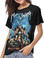 マノウォー野球Tシャツ女性夏のレジャー 半袖Tシャツ-Medium