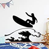 Tianpengyuanshuai Pegatinas de Pared de Surf interesantes Sala de Estar Pegatina para habitación de niños Decoración de Dormitorio Mural 33X51cm