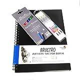 Brustro A4 Size, 160 GSM, Artists Sketch Book Wiro Bound with Cretacolor Artists Studio Line Watercolor Pencil Set