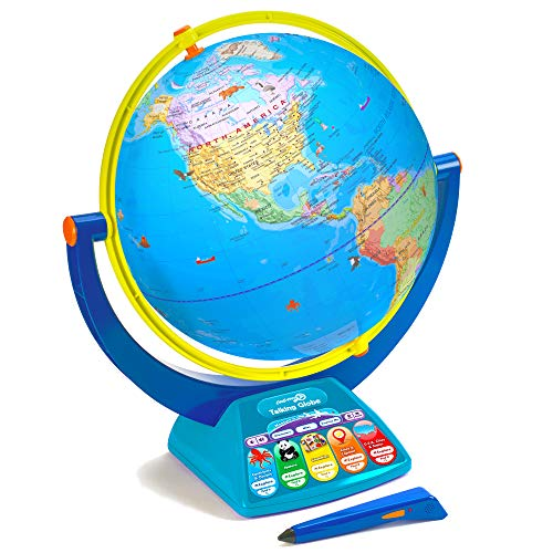 Educational Insights GeoSafari Jr. Talking Globe Featuring Bindi Irwin, Globes for Kids, Interactive Globe with Talking Pen, Ages 4+