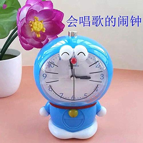 hlyhly Relojes Despertador Digital Despertador Creativo Doraemon Cat Despertador Reloj Infantil de Dibujos Animados Despertador-Azul