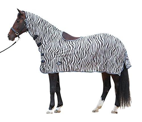Harry 's Horse–Manta antimoscas Malla Mosquitera Zebra Cuello notebook Sillín Apertura Gray