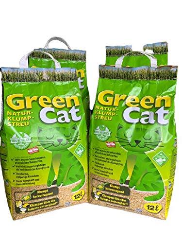 4 Sacchi da 12 Litri Lettiera vegetale Al Mais Agglomerante Per Gatti Smaltibile nel WC