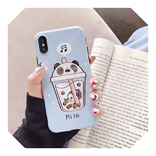 Leuke drank mooie dier telefoonhoesje voor iPhone X XS XR XS MAX voor iPhone 6 case 6s Plus 7 8 Plus zachte siliconen hoes, For iPhone 8, 02