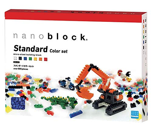 nanoblock 14371 - Standard Color Set, 3D-Puzzle, Advanced Hobby Series, 800 Teile