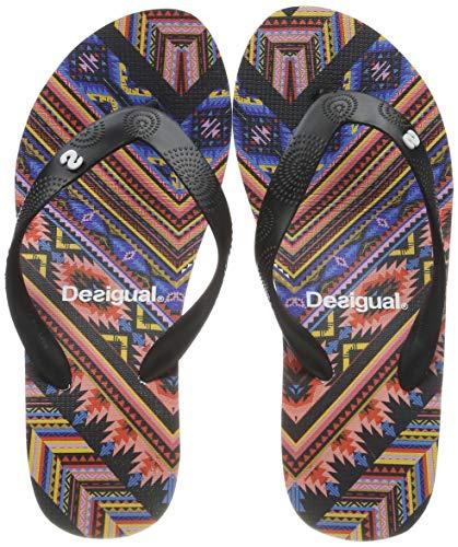 Desigual Damen Shoes (LOLA_Mexican) Zehentrenner, Schwarz (Negro 2000), 39 EU