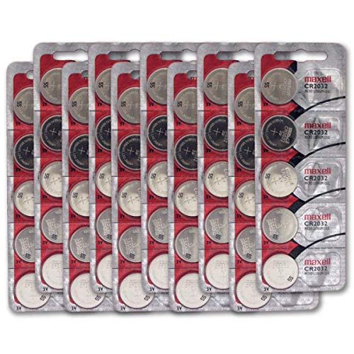CR2032 3V Micro Lithium coin Cell Battery Maxell Original Hologram pack CR-2032 - 50 Pack
