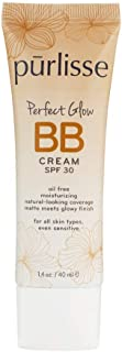 purlisse BB Tinted Moisturizer Cream SPF 30 - BB Cream for All Skin Types - Smooths Skin Texture, Evens Skin Tone - 1.4 Ounce (LIGHT MEDIUM)