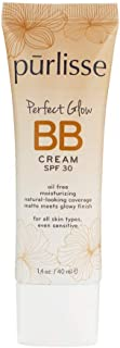 purlisse BB Tinted Moisturizer Cream SPF 30 - BB Cream for All Skin Types - Smooths Skin Texture, Evens Skin Tone - Medium, 1.4 Ounce…